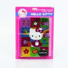 Scratch Holographic Art Sticker Journal Notebook